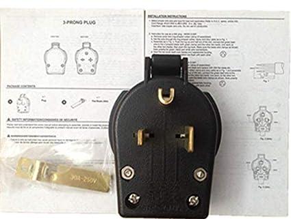 NEMA 6-50P MILLER 213380 MIG STICK welder Power Plug Wire Feeder PLASMA CUTTER