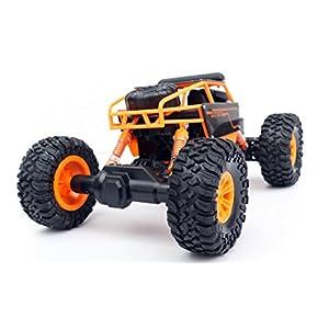 1/18 Rock Crawler RC Truck 2.4 GHz Radio Remote Control Truck Car | WiFi Camera Rechargeable Batteries | ORANGE