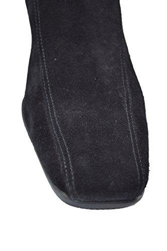 Prada, Damen Stiefel & Stiefeletten  Schwarz schwarz