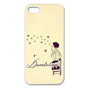 Case For Htc One M9 Cover Hard Back Protective-Unique Design Cute Blowing Dandelion Quotes Make A Wishes Case Perfect as Christmas gift(2)