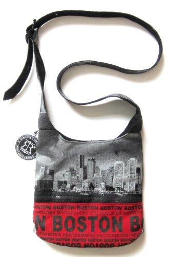 - Robin Ruth Large Sling Bag Image(Boston Skyline) Adjustable Strap