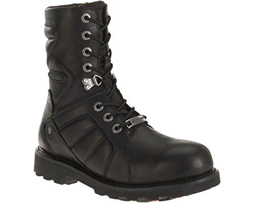 Harley-Davidson Men's Vance Black FXRG Motorcycle Boots. D96082 (Black, (Best Waterproof Motorcycle Boots)