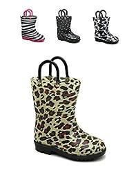 Storm Kidz Kids Girls Printed Rainboots Assorted Animal Prints Toddler/Little Kid/Big Kid Sizes