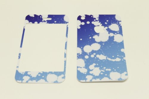 iPhone 3G/3GS Skin Decal Sticker - Blue Paint Splashes