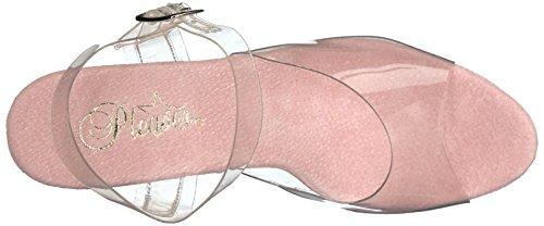 Sandalias con 708dmch Clr Abierta Pleaser B Chrome Mujer Moon para Punta Pink ATqaR