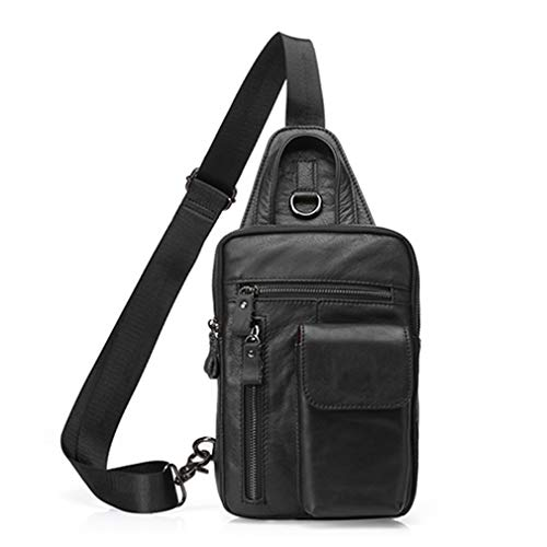 Cuir Men Bags Shoulder En Messenger 8871a3black Men's Sac qHTSx
