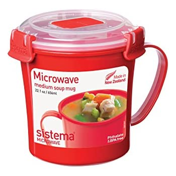 Sistema Microwave Collection Soup Mug Medium 22.1 oz./0.7 L Red  sc 1 st  Amazon.com & Amazon.com: Sistema Microwave Collection Soup Mug Medium 22.1 oz ...