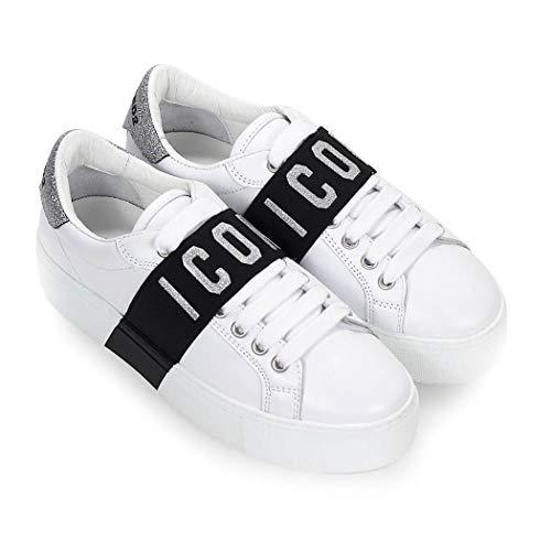 Zapatillas Snw002206500276m241 Mujer Dsquared2 Cuero Blanco XHAIw