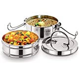 Neelam Stainless Steel Lunch Box Set, Set of 2, Silver