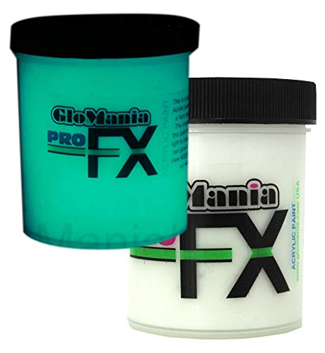 Glow in The Dark Paint, UV Reactive Luminous Glowing Daytime Invisible ProFX Aqua 2 Ounces
