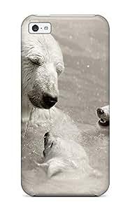For Iphone 5c Fashion Design Swimming Polar Bears Case-wVpilJd2270JrwVz
