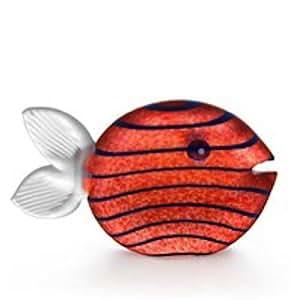 """Amazon.com: Oggetti Hand Blown Glass Sculpture """"Snippy"""" Fish Amber"""