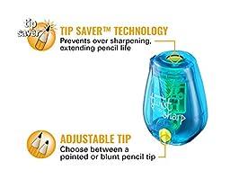 Bostitch Twist-N-Sharp  Pencil Sharpener, Assorted Colors (PS1-ADJ)