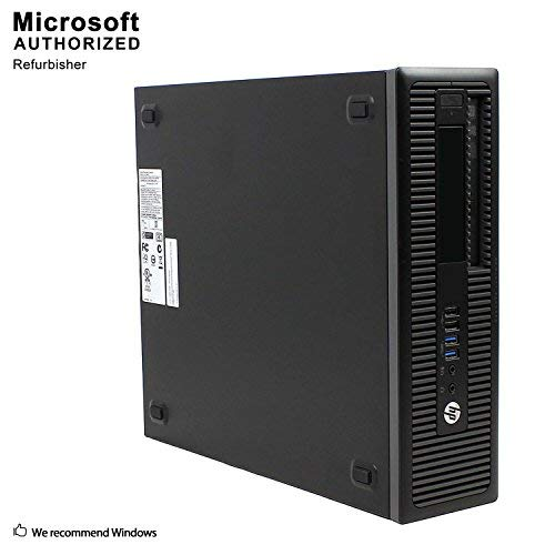 HP ProDesk 600 G1 SFF Slim Business Desktop Computer, Intel i5-4570 up to 3.60 GHz, 8GB RAM, 512GB SSD, DVD, USB 3.0, Windows 10 Pro 64 Bit (Renewed)