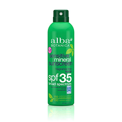 Alba Botanica Fragrance Free Sensitive Mineral SPF 35 Sunscreen, 6 oz.