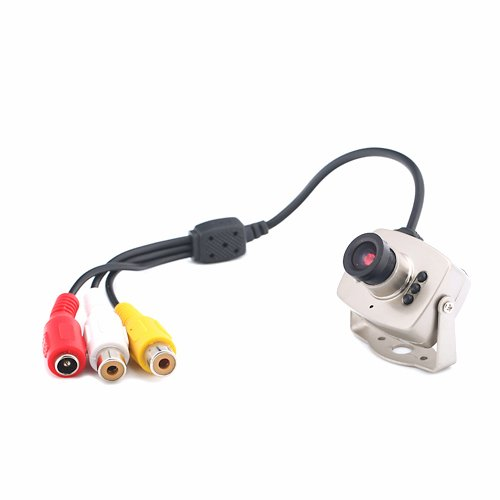 HDE Mini 6 LED Wired CMOS CCTV Security Camera Night Vision Hidden Pinhole Cam