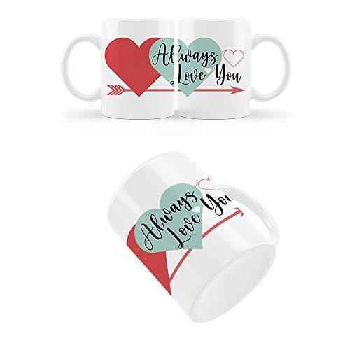 PROMO SHOP Taza San Valentín 350 mL – Always Love You – Regalos Originales y Divertidos de Aniversario para Novios…