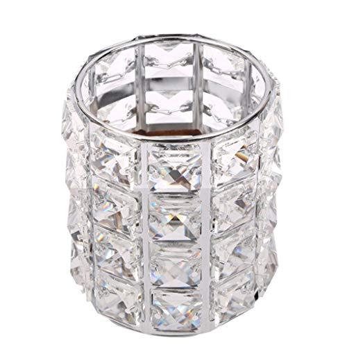 (Ktyssp Organizer Jewelry Box Glass Beads Eyebrow Pencil Storage Tube Metal Makeup Brush with European Glitter Good Quality)