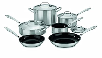 Cuisinart GGT-10 GreenGourmet Tri-Ply Stainless 10-Piece Cookware Set