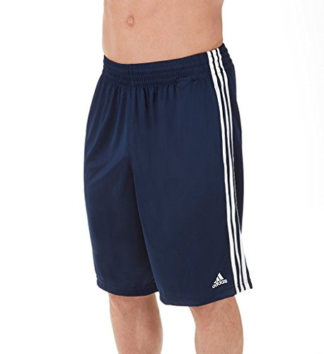 adidas Adult Climalite Practice Shorts (Collegiate Navy/White, Small)