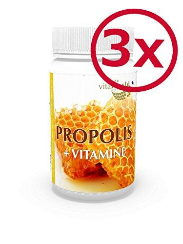 Pack de 3 Propóleos + Vitaminas 3 x 60 Cápsulas - Vita World Farmacia Alemania Propóleo