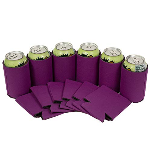 Mixer Raspberry - QualityPerfection 12 Raspberry Party Drink Blank Can Coolers(12,25,50,100,200 Bulk Pack) Blank Beer,Soda Coolies Sleeves | Soft,Insulated Coolers | 30 Colors | Perfect For DIY Projects,Holidays,Events