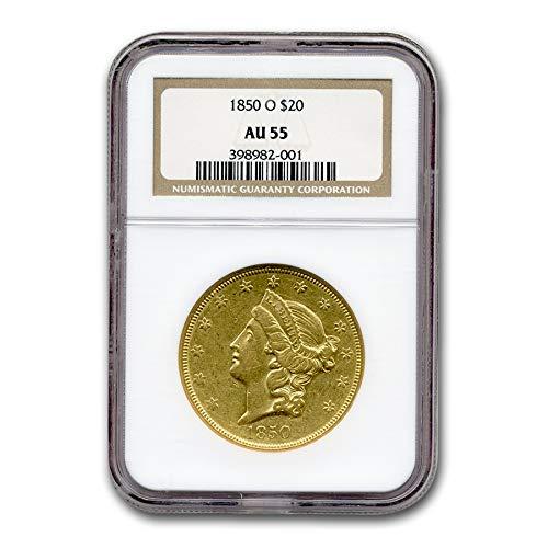 1850 O $20 Liberty Gold Double Eagle AU-55 NGC G$20 AU-55 NGC