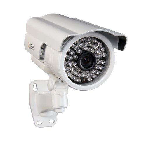 Bullet Ccd Camera Resistant Color (Q-See QD6504B Sony Exview Effio-E CCD II Elite 650 TVL Resolution Camera with 150-Feet of Night Vision (White))