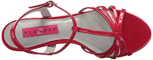 Patent Pump Kit06 Women's r Pleaser Label Dress Pink Red BFtq1w8Y