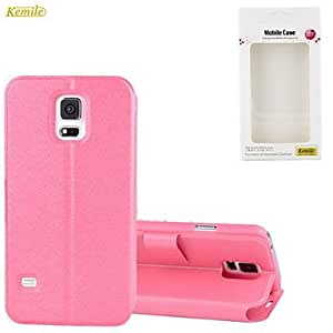 YULIN Samsung S5 I9600 compatible Solid Color Plastic/PU Leather Full Body Cases , White