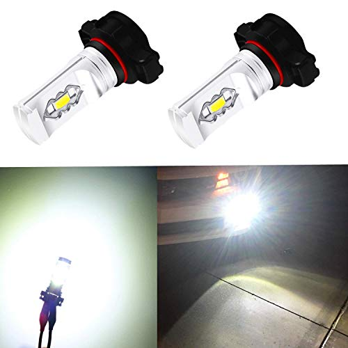 Xtreme Super Bright PSX24W LED Bulbs Fog Light High Illumination ETI 56-SMD LED PSX24W Bulb 12276 2504 PSX24W Fog Lights Lamp Replacement - 6000K Xenon White ()