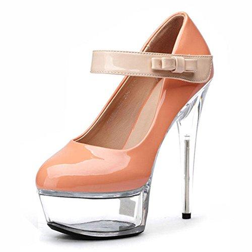 De Zapatos Y Las TacóN Partido Zapatos YC Zapatos De Cristalinos Danza L De Diamante Del TamañO Lujo 15cm Mujeres apricot úNicos alto El Del zHZfHqx