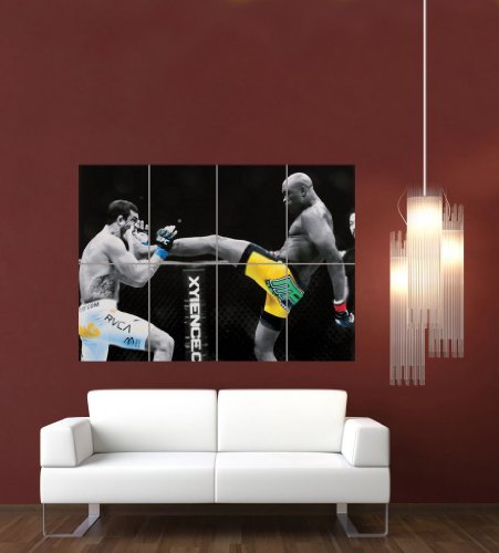 ANDERSON SILVA UFC KICK GIANT WALL ART PRINT PICTURE POSTER