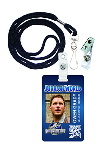 Owen Grady, Jurassic World Novelty ID Badge Film Prop for Costume and Cosplay • Halloween and Party Accessories]()