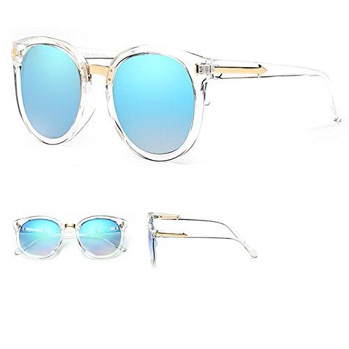 gafas Color las de la ligero peso sol de de la polarizadas Pink que conducen redondas Gafas los YXX retros hombres Azul mujer moda de va6wxzCq1n