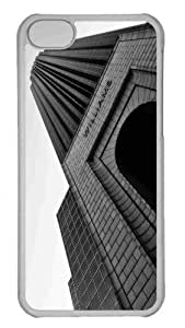 Customized iphone 5C PC Transparent Case - Williams Tower Black And White Personalized Cover by heywan