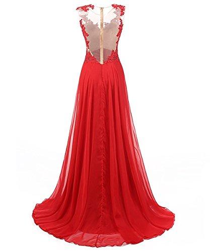 para Vestido Carnivalprom mangas Rosa Sin trapecio mujer 70UAqZ