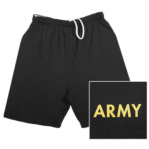 Fox Outdoor Products Army Running Shorts, Black, - Black Training Physical Shorts Army