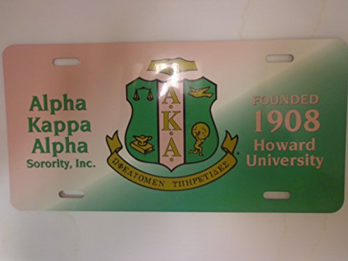 Alpha Kappa Alpha Car License Plate Frame - Alpha Frame