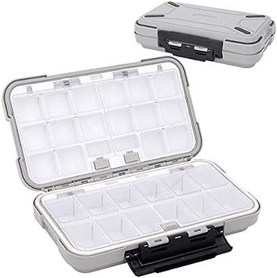 Waterproof Plastic Fish Fishing Lure Spoon Hooks Bait Tackle Storage Case Box