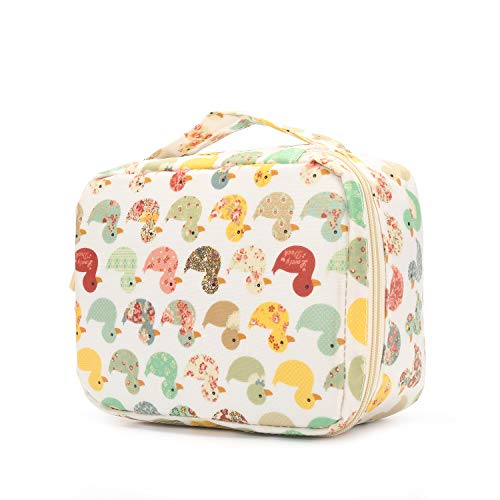 HOYOFO Waterproof Toiletry Bag Travel Case Cosmetic and Makeup Bag Portable Traveling Organizer, Duck