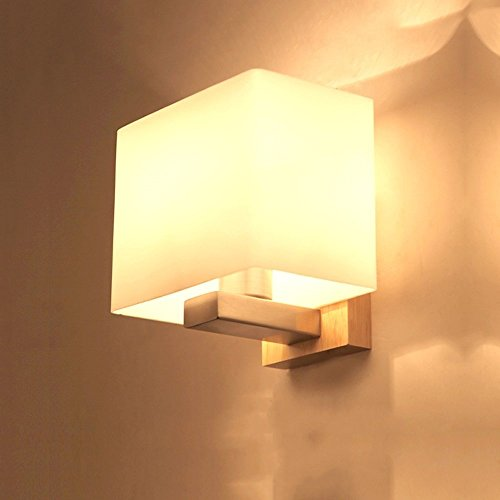 CGJDZMD Modern Creative Cloth Art Wall Light Wall Sconce Japanese-Style Led Log Solid Wood Cloth Wall Lamp Wall Lantern for Room Living Room Corridor Warehouse Hotel Wall Lantern, E27 Socket by CGJDZMD