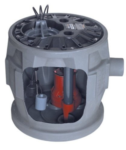 Liberty Pumps P382LE41/A2-EYE 4/10 hp Pre-Assembled Simplex Sewage System with NightEye Technology, 10' Cord and 2'' Discharge by Liberty Pumps