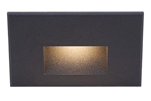 Black 1 Light Led Rectangular Step Light