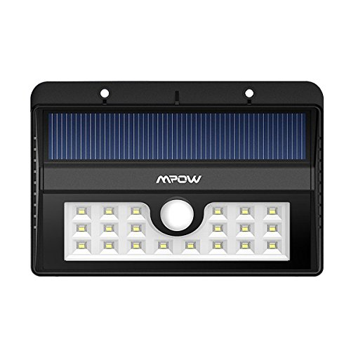 Mpow Solar light, Bright 20 LED Outdoor Lighting Motion Sensor Wall Lights for Driveway Garden Path