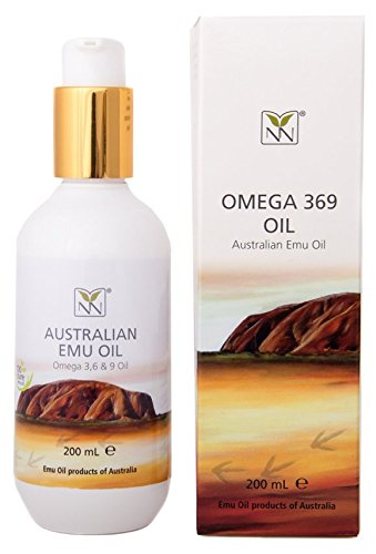 Extra Large, 100% Pure Australian Emu Oil - 6.8 oz Bottle - Luxury, Hospital Grade Emu Oil for Skin, Hair Growth, Nails, Scalp, Eczema, Scars, Muscle Aches, and (100% Pure Australian Oil)