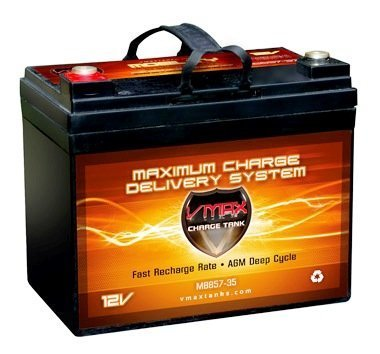 VMAX857 AGM Deep Cycle Group U1 Battery Replacement for Bruno Catalina 12V 35Ah Wheelchair Battery by VMAXTANKS