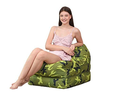 TAO Camouflage Lazy Couch Tatami Multi-Function Bean Bag Bedroom Living Room Office Nap Comfortable Single Recliner Large Medium (Color : Light Camouflage, Size : L) ()