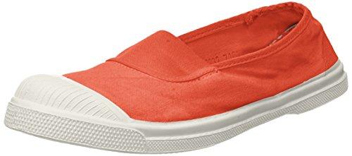 Femme Orange corail Bensimon Tennis Baskets Elastique WZXw0Hn