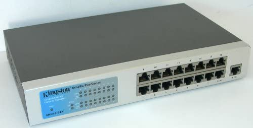 Kingston Etherx 16 Port 10//100MBPS Auto Sensing Rackmounted Stackable Hub